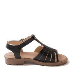 Naisten Keinonahasta Matalakorkoiset Heel Sandaalit Matalakorkoiset jossa Solki kengät