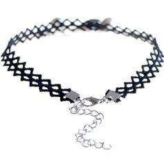 Moda La perla de faux Encaje con Perlas de imitación Señoras' Collar de la manera