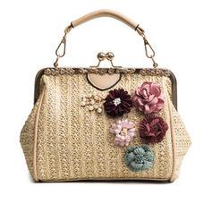 Elegant Straw Fashion Handbags
