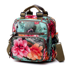 Delicate/Floral/Multi-functional Oxford Shoulder Bags/Backpacks