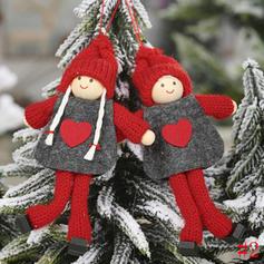 Gnoom Kerstmis- Engel opknoping Doek Boom hangende ornamenten Pop (Set van 2)