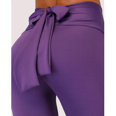 Solid Color Knotted Sports Leggings