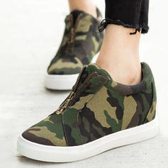 Women's Fabric Casual Outdoor Athletic With Zipper shoes