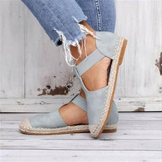 Women's Fabric Flat Heel Flats With Elastic Band shoes
