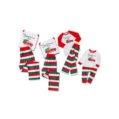 Cartoon Print Family Matching Christmas Pajamas