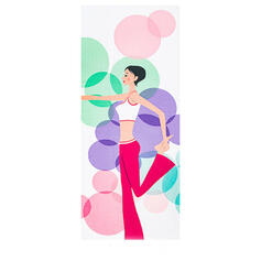Oversized Floral Superfine fiber Yoga Towel