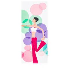 Oversize Kwiatowy Mikrofibra Ręcznik do jogi