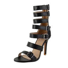 Femmes Similicuir Talon stiletto Sandales Escarpins avec Boucle chaussures