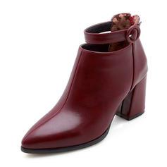 Femmes Similicuir Talon bottier Escarpins Bout fermé Bottes Bottines avec Boucle chaussures