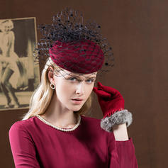 f97716de93068 ... Hat  Ladies  Gorgeous Fashion Glamourous Wool With Tulle Beret ...