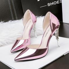 Women's PU Stiletto Heel Pumps With Jewelry Heel shoes