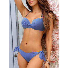 Solid Color Push Up Halter Sexy Bikinis Swimsuits