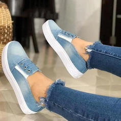 Women's Denim Flat Heel Flats shoes