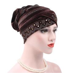 Ladies ' Classic Bomuld med Rhinsten Diskette Hat
