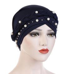 Ladies ' Classic Bomuld med Rhinsten/Imiteret Pearl Diskette Hat