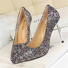 Donna Glitter scintillanti Tacco a spillo Stiletto con Paillette scarpe