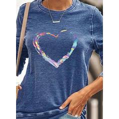 Wydrukować Καρδιά Στρογγυλός λαιμός Μακρυμάνικο Bluza