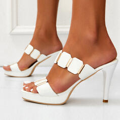 Women's PU Stiletto Heel Sandals Pumps Platform Peep Toe Slippers With Others shoes