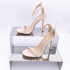 Women's Leatherette Stiletto Heel Peep Toe Sandals