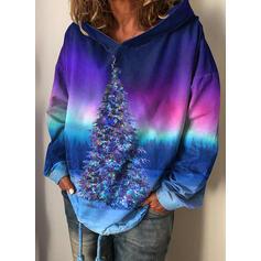 Tie Dye Forest Long Sleeves Christmas Sweatshirt