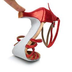 Donna Latino Tacchi Sandalo Similpelle con Listino alla caviglia Latino