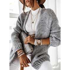 Solid Chunky strik Casual Cardigan