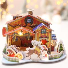 Merry Christmas Santa Tabletop 3D House Card Paper Christmas Décor Diy Craft