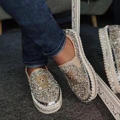 Mulheres Casual Outdoor com Strass sapatos