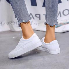 Mulheres PU Casual Outdoor com Aplicação de renda sapatos