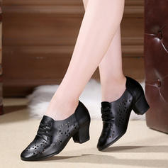 Women's Real Leather Heels Latin Dance Shoes