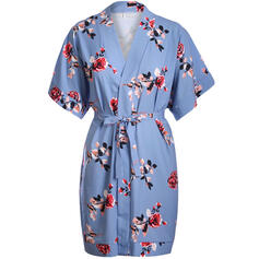 Print/Floral Short Sleeves Sheath Above Knee Casual/Boho/Vacation Dresses