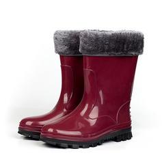 Femmes PVC Talon plat Bottes Bottes mi-mollets Bottes de pluie avec Autres chaussures