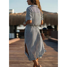 Stripe V-Neck Vintage Fresh Cover-ups Swimsuits