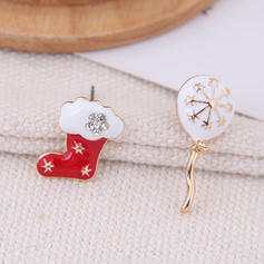 Lovely Alloy Rhinestones Earrings Christmas Jewelry