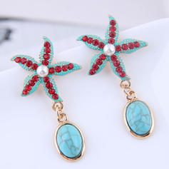 Starfish Alloy Rhinestones With Rhinestone