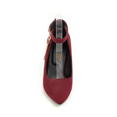 De mujer Ante Tacón stilettos Salón con Hebilla Borla zapatos