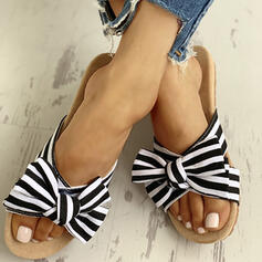 Women's Cloth Flat Heel Slippers With Bowknot shoes