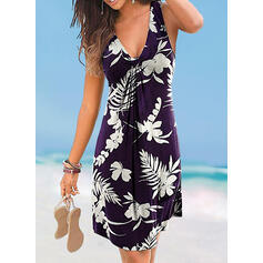 Floral Strap V-Neck Cover-ups Swimsuits