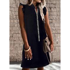 Αμάνικο Αμάνικο Πάνω Από Το Γόνατο Μικρό μαύρο/Καθημερινό Сукні