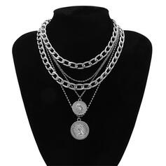 Alloy With Coin Necklaces 4 PCS