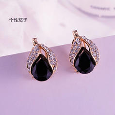 Unique Shining Gorgeous Exquisite Alloy Silver Plated Imitation Sapphire Earrings