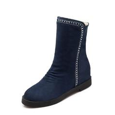Femmes Suède Talon plat Bottines chaussures