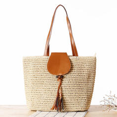 Comutar/Estilo boêmio/Trançado/Simples Bolsas de lona/Bolsa de Ombro/Sacos de praia