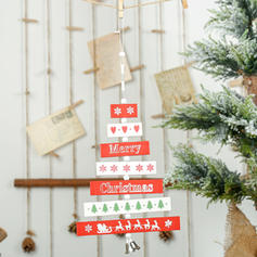 Merry Christmas Hanging Christmas Décor Wooden Christmas Pendant Tree Hanging Ornaments