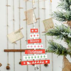 Ξύλινος Χριστουγεννιάτικο μενταγιόν Διακοσμητικά δέντρα