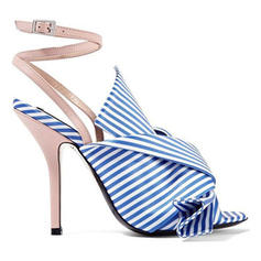 Women's Fabric Stiletto Heel Sandals With Bowknot shoes