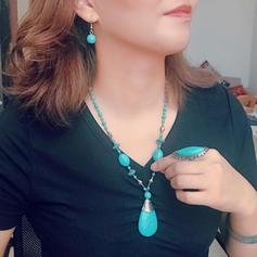 Smukke På mode Eksotisk Legering Turkis Kvinder Smykke Sæt (Sæt af 2)