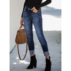Les poches Froncé Grande taille Élégante Sexy Jeans