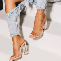 Women's PU Stiletto Heel Sandals Pumps With Crystal Heel shoes