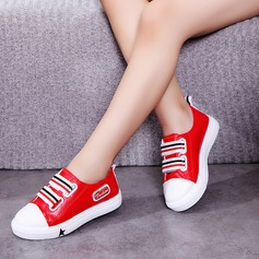 Unisex Leatherette Flat Heel Closed Toe Flats Sneakers & Athletic